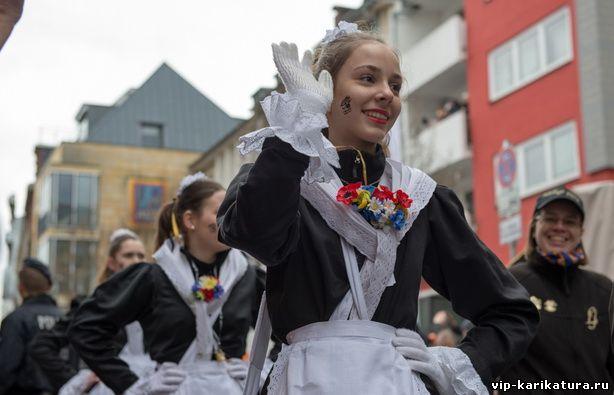 карнавальное шествии в Кёльне