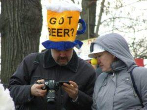 Пиво в шляпе